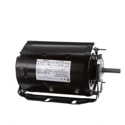 Model 924L Century 1/4 hp 1725 RPM 2-SPD 48Z Frame 115V Belt Drive Blower Motor Ball Brg Century # 924L