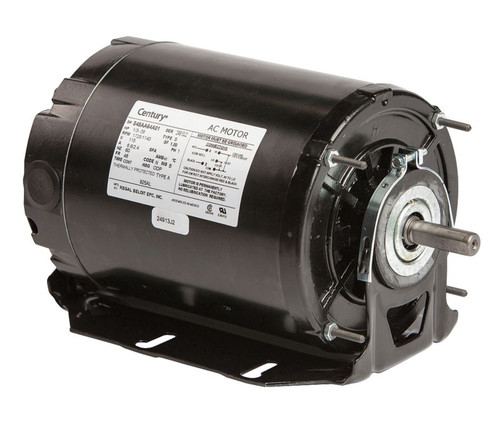 Model 925AL Century 1/3 hp 1725 RPM 2-SPD 48 Frame 115V Belt Drive Blower Motor Ball Brg Century # 925AL