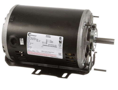 F391V1 Century 1/2 hp 1725 RPM 2-SPD 56 Frame 115V Belt Drive Blower Motor