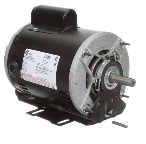 C532V1 Century 1/2 hp 1725 RPM 2-SPD 56 Fr 115V Belt Drive Blower Mtr Cap Start
