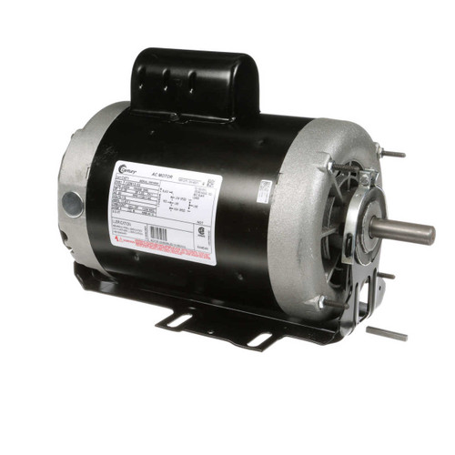 1 hp 1725 RPM 2-SPD 56 Fr 115V Belt Drive Blower Motor Cap Start Century # C471