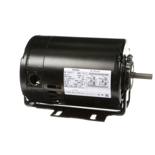 BF1032 Century 1/3 hp 3450 RPM 48 Frame 115/230V Belt Drive Cap Start Blower Motor Century # BF1032