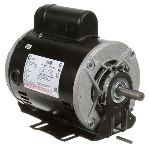 C607V1 Century 1/2 hp 1725 RPM 56 Frame 115/208-230V Belt Drive Cap Start Blower Motor