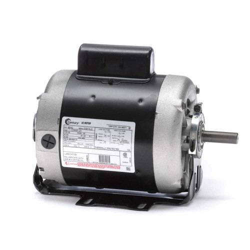 B642 Century 3/4 hp 3450 RPM 56 Frame 115/208-230V Belt Drive Cap Start Blower Motor Century # B642