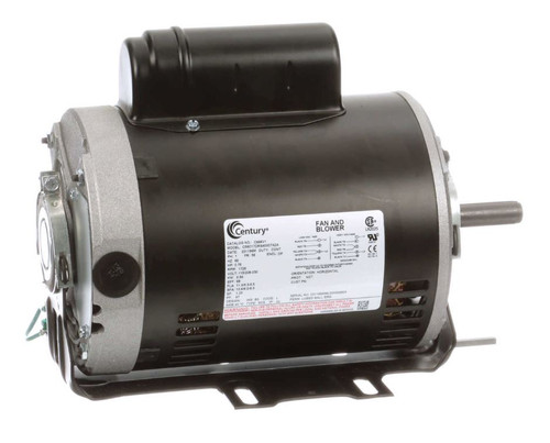 C666V1 Century 3/4 hp 1725 RPM 56 Frame 115/208-230V Belt Drive Cap Start Blower Motor