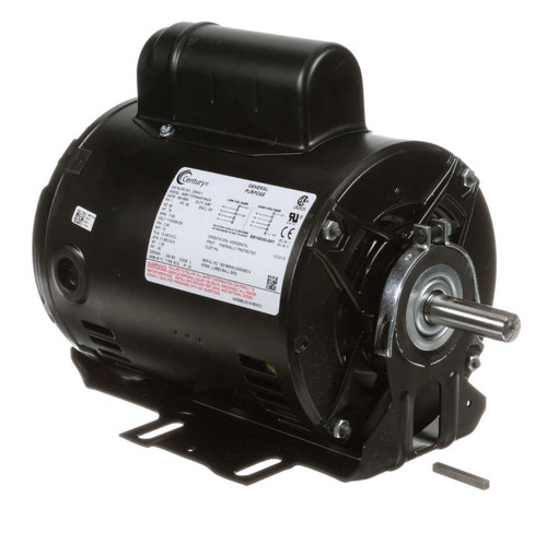C654V1 Century 3/4 hp 1725 RPM 56 Frame 115/208-230V Belt Drive Cap Start Blower Motor
