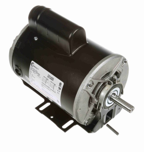 C524V1 Century 1 hp 1725 RPM 56 Frame 115/208-230V 60 hz Belt Drive Cap Start Blower Motor