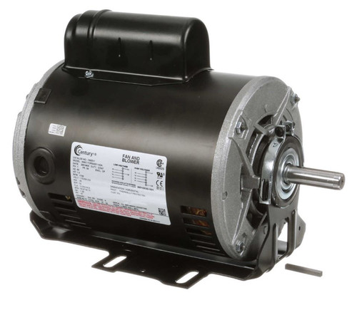 C692V1 Century 1 hp 1725 RPM 56 Frame 115/208-230V 60 hz Belt Drive Cap Start Blower Motor