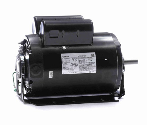 RB1154AV1 Century 1.5 hp 1725 RPM 56H Frame 115/208-230V 60 hz Belt Drive Cap Start Blower Motor Century # RB1154AV1