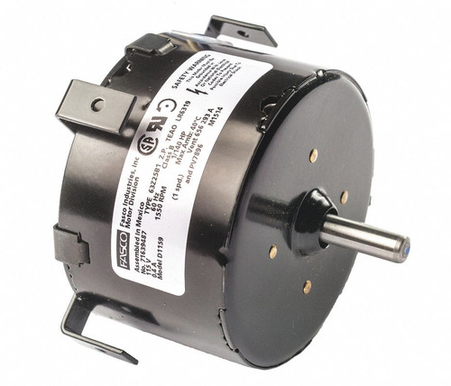 "Fasco D1159 Motor | 1/130 hp 1500 RPM CCW 3.3"" Diameter 115 Volts Fasco Electric"