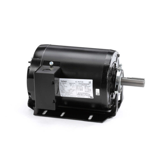 1.5 hp 1725 RPM 56HZ Frame 208-230/460V Belt Drive Blower Motor Century # RB3154AV1