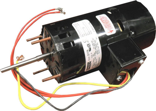 "Fasco D1178 Motor | 1/15 hp 1550 RPM 2-Speed CW 3.3"" Diameter 208-230 Volts (Carrier)"
