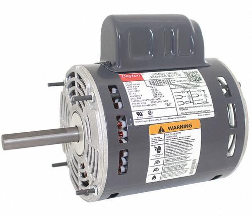 1/2 HP Direct Drive Blower Motor 1100 RPM 115/230V Dayton # 4HZ61