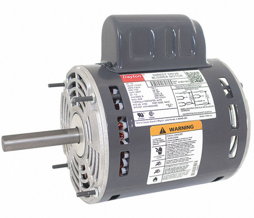 4HZ61 Dayton 1/2 HP Direct Drive Blower Motor 1100 RPM 115/230V