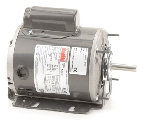 1AGG1 Dayton 1/4 hp Belt Drive Blower Cap Start Motor 1725 RPM 115/208-230V