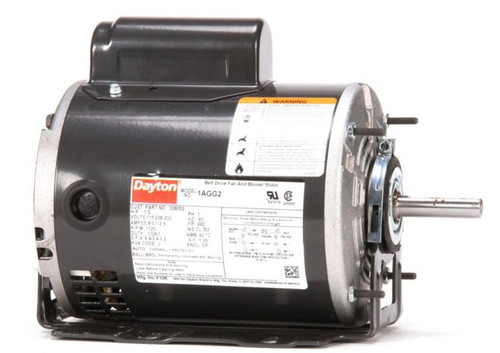 Model 1AGG2 Century 1/3 hp Belt Drive Blower Cap Start Motor 1725 RPM 115/208-230V Dayton 1AGG2