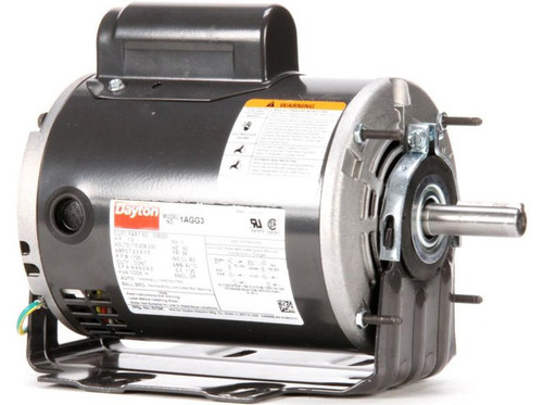 1/2 hp Belt Drive Blower Cap Start Motor 1725 RPM 115/208-230V Dayton 1AGG3