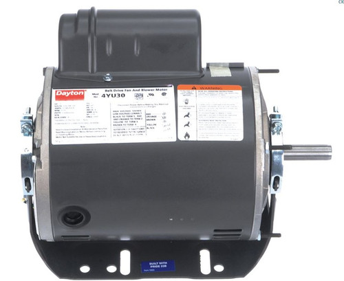1 hp Belt Drive Blower Cap Start Motor 1725 RPM 115/208-230V Dayton 4YU30