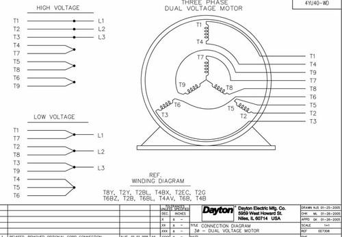 Dayton 3 Phase Motor Wiring Diagram Wires - All Diagram ... on