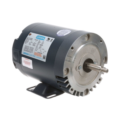 117875.00 Leeson |  1 hp 1725 RPM 56J Frame ODP C-Face (Rigid Base) 208-230/460 Volts