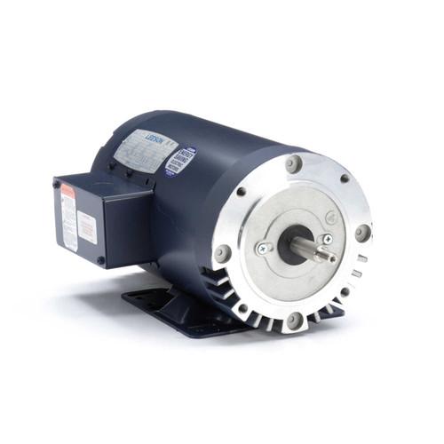 5 hp 3600 RPM 56HJ Frame ODP C-Face (Rigid Base) 230/460V Leeson Motor # 116699