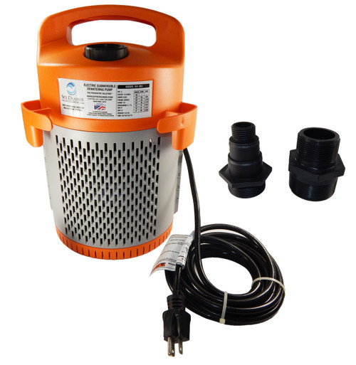 Site Drainer 1/2 hp 115V Non-Clogging Submerisble Dewatering Sump Pump
