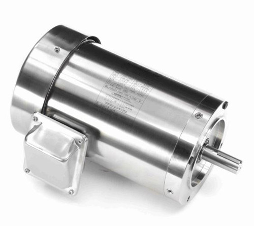 191567.00 Leeson |  1.5 hp 1800 RPM 56C Frame TEFC 208-230/460 Volts Stainless Steel