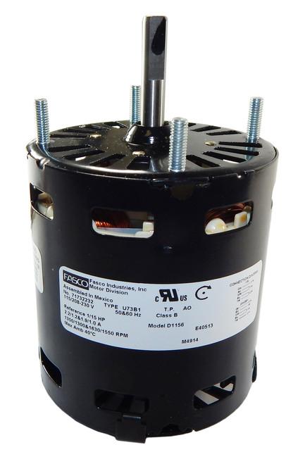 Fasco D1156 Motor | Krack Refrigeration Motor (E206444, E206445) 1/15 hp 1630 RPM 115V