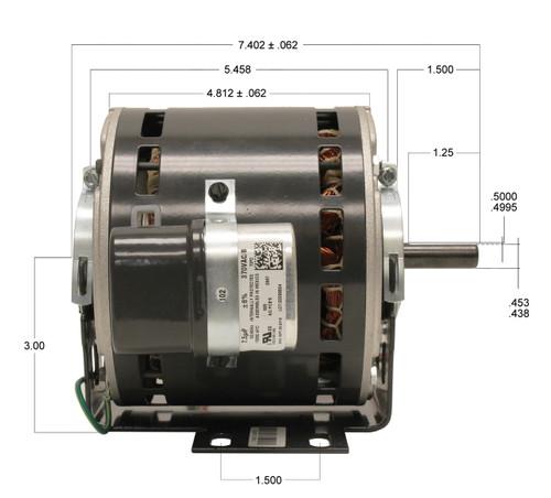 P9584 | Trane Motor (X70370241010, 5KCP39MGB434X) 1/4 hp 1075 RPM 115V