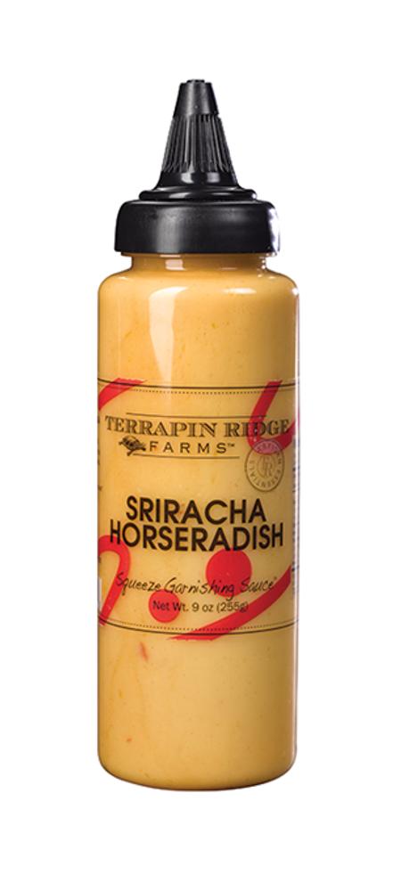 Squeeze Sriracha Horseradish Garnish