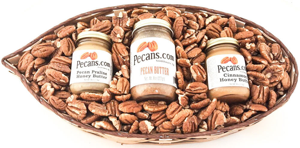 Texas Pecan Gift Basket Butters