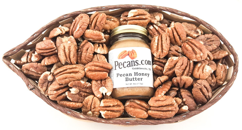 Texas Pecan Gift Basket w Pecan Honey Butter