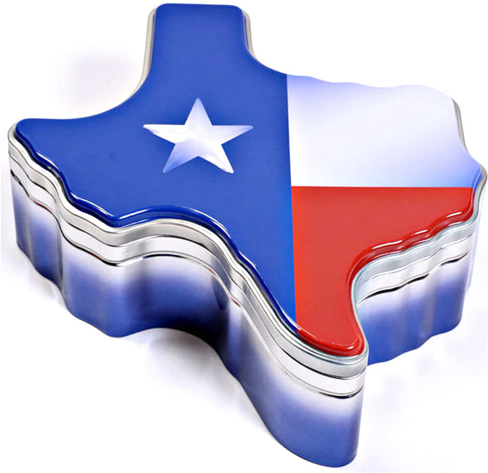 EMPTY Texas Tin w/ Cookie Cutter Lid