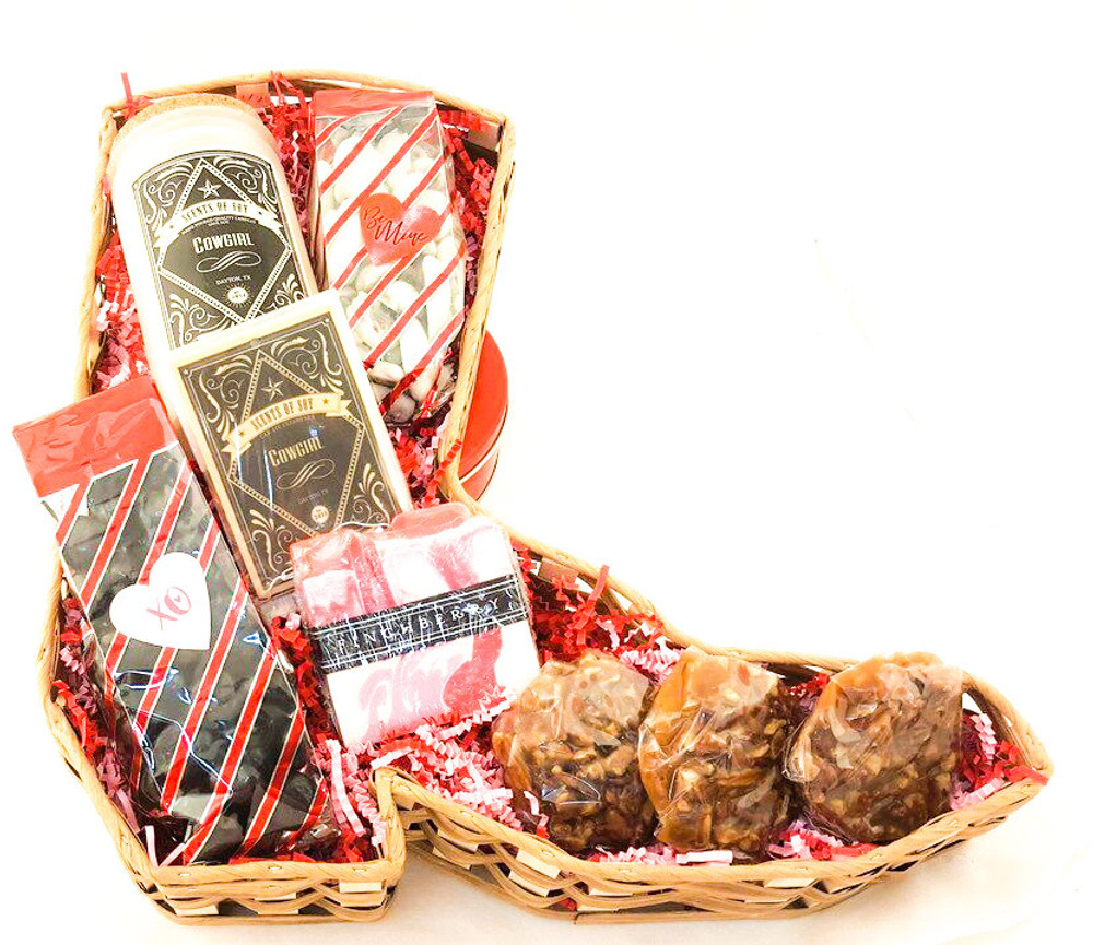 Cowgirl Boot Valentine Basket