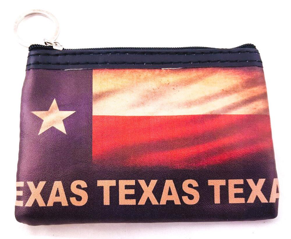 Coin Purse Vintage Texas Flag