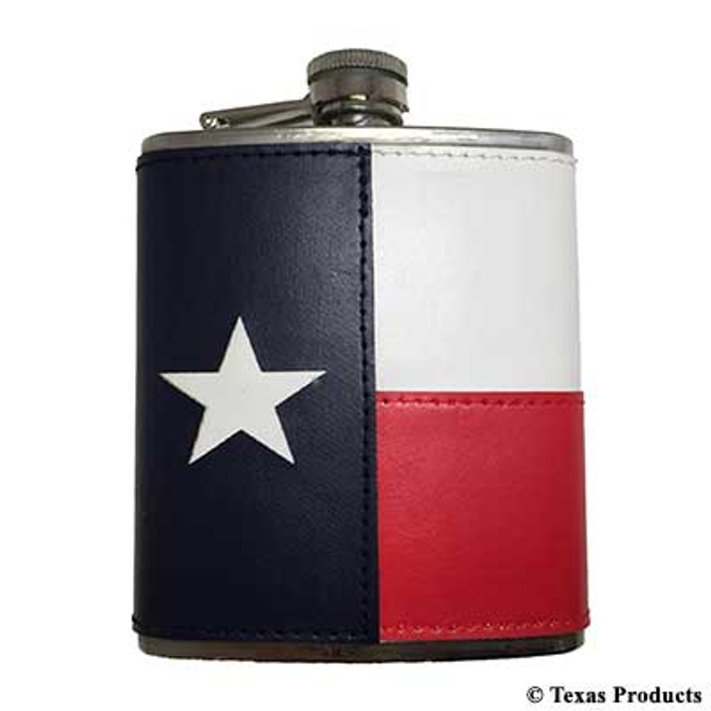 Texas Leather Flask