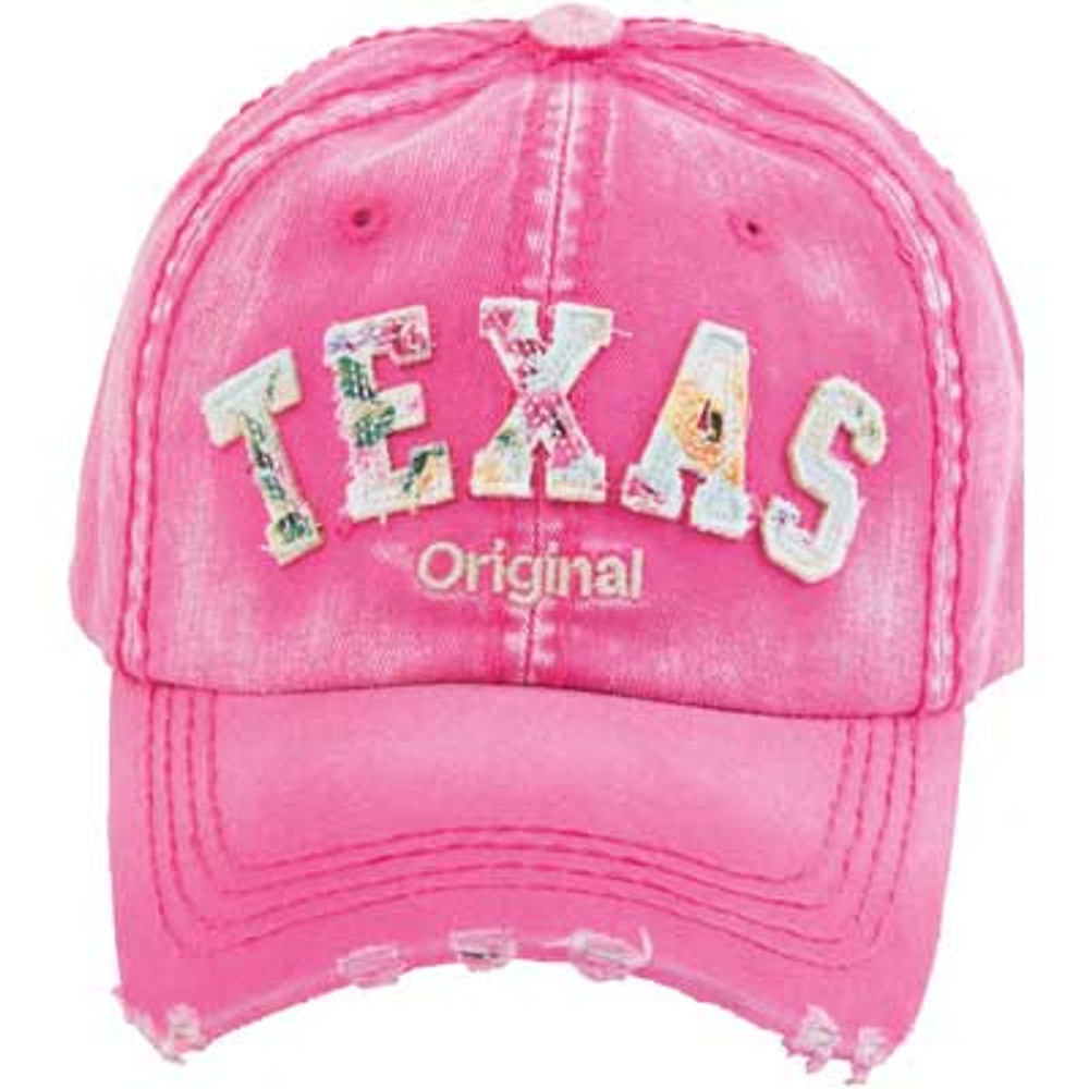 Cap - Pink with Floral Letters