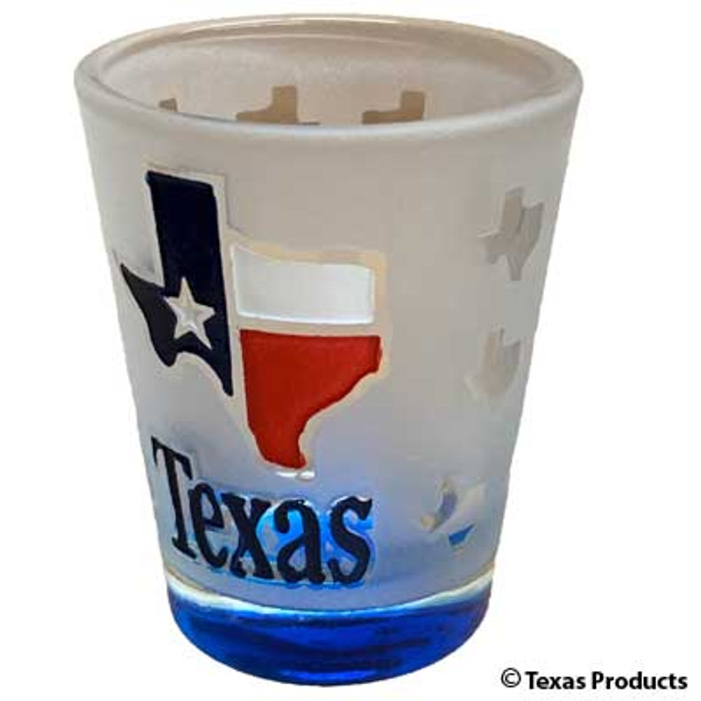 Etched Texas Shot Glass