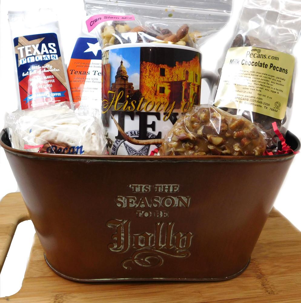 Tis the Season to Be Jolly Gift Basket Tin