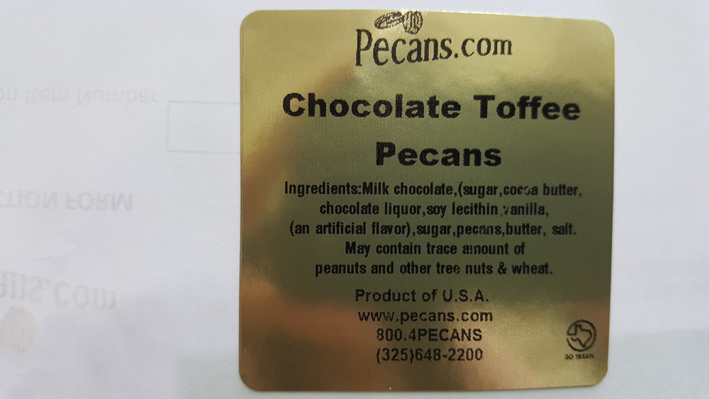 Chocolate Toffee Pecans