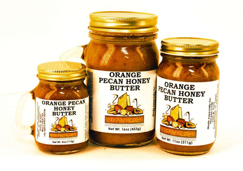 Orange Pecan Honey Butter