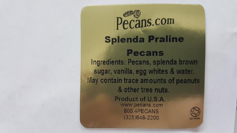 Splenda Sweet Praline Pecans