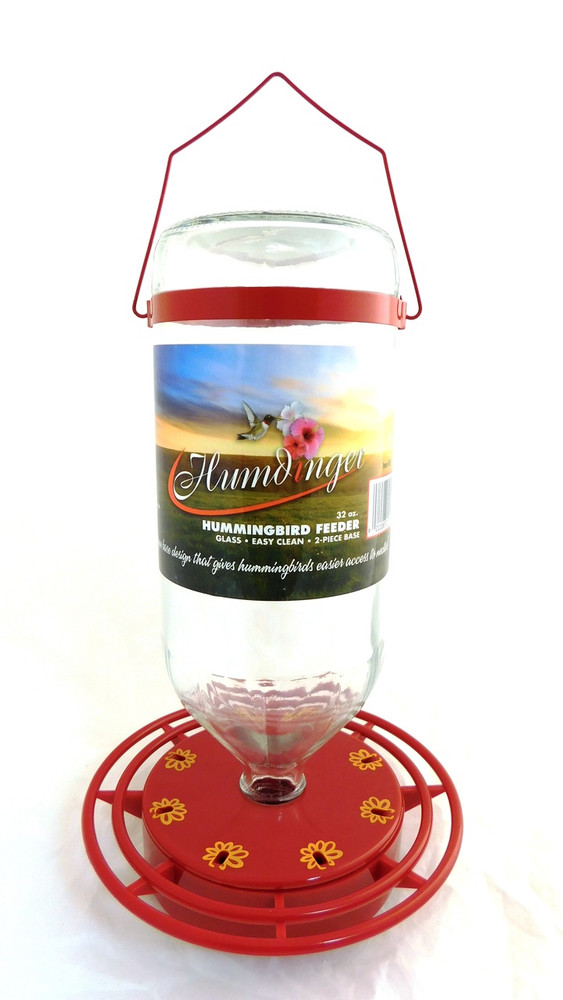 Glass Hummingbird Feeder 16 & 32 oz