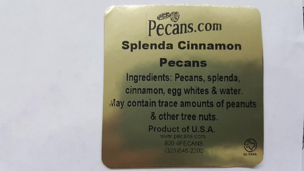 Splenda Sweet Cinnamon Pecans