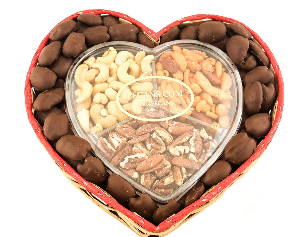 Snack Mix Milk Chocolate Pecans Heart