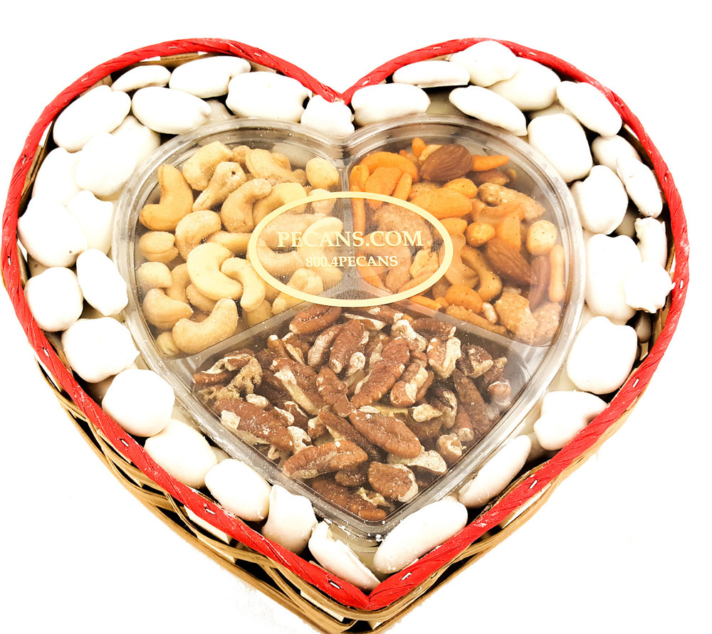 Snack Mix White Chocolate Pecans Heart