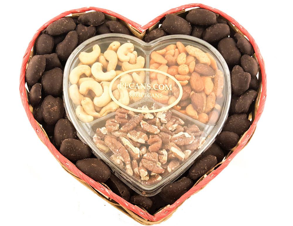 Snack Mix Dark Chocolate Pecans Heart