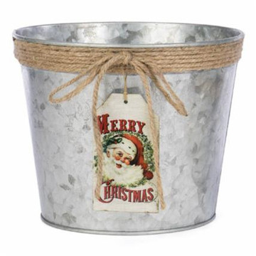 Merry Christmas  Metal Tin w/3 lb Halves
