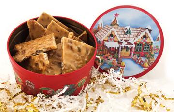 Brittle in Christmas Tin - One Half Pound