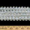 Crystal Clear Lustre 8mm Rondelle Glass Crystal Strands